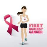 Fight against breast cancer campaign. Design, vector illustration eps10 Stock Image