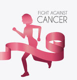 Fight against breast cancer campaign. Design, vector illustration eps10 Royalty Free Stock Photography