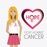 Fight against breast cancer campaign. Design, vector illustration eps10 Stock Images
