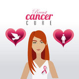 Fight against breast cancer campaign. Design, vector illustration eps10 Stock Photo