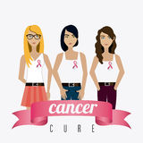 Fight against breast cancer campaign Stock Photo