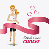 Fight against breast cancer campaign Royalty Free Stock Images