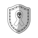 Fight against cancer. Icon vector illustration graphic design Stock Photo