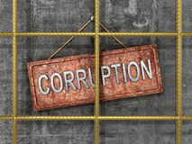 The fight against corruption. The concept of  3D illustration Stock Photography