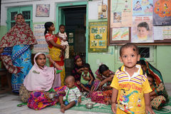 Fight Against Malnutrition. Like India government a NGO also provides food and primary healthcare to children under 6 years of age and their mothers. These Royalty Free Stock Photos