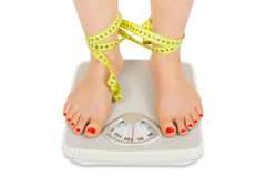 The fight against obesity Royalty Free Stock Photos