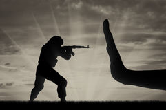 Fight against terrorism concept Royalty Free Stock Photos