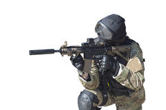 Fight against terrorism, Special Forces soldier royalty free stock image