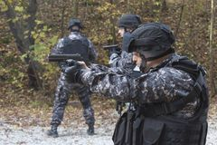 Fight against terrorism, Special Forces soldier. Police swat Royalty Free Stock Images