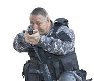 Fight against terrorism, Special Forces soldier, police swat royalty free stock images