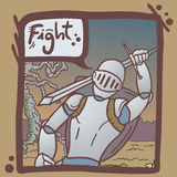 Fight army comic Stock Image