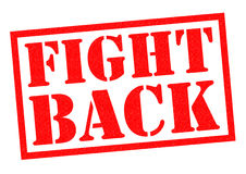 FIGHT BACK. Red Rubber Stamp over a white background Stock Photo