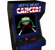 Fight Beat Cancer Treatment Cure Disease Arcade Game Royalty Free Stock Photos