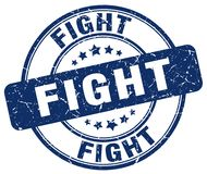 Fight blue stamp. Fight blue grunge round stamp isolated on white background Royalty Free Stock Photography