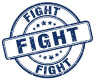 Fight blue stamp. Fight blue grunge round stamp isolated on white background Stock Photography