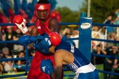 Fight boxers Stock Photo