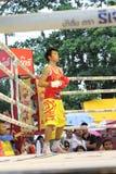 Fight boxing. SURAT THANI, THAILAND - DECEMBER 14 : Usanakorn Kokietgym WBC Super Flyweight Champion wait to fight boxig with Leeyunting on December 14, 2012 in stock photo