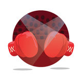 Fight boxing gloves flat icon punch Royalty Free Stock Images