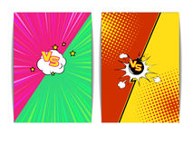 Fight Bubble  Comics Style. Vector Illustration of  Fight Bubble in Comics Style for Design, Website, Background, Banner. Versus Retro Element Template. Comics Royalty Free Stock Images