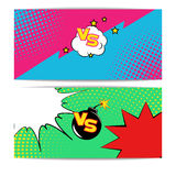 Fight Bubble  Comics Style. Vector Illustration of  Fight Bubble in Comics Style for Design, Website, Background, Banner. Versus Retro Element Template. Comics Royalty Free Stock Photo