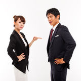Fight business couple Stock Images