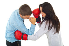 Fight business people Royalty Free Stock Images