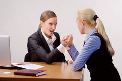 Fight of businesswomen Royalty Free Stock Photo