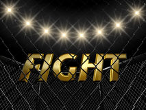 Fight cage. And text , 3d illustration Stock Photo