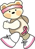 FIGHT CANCER BEAR Stock Images