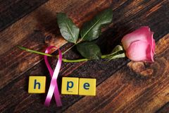 Fight cancer. Concept shot giving message to fight with cancer royalty free stock photos