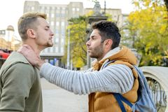 Fight in the city street Stock Photography