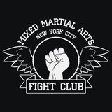 Fight Club logo. New York, MMA, Mixed Martial Arts.  Royalty Free Stock Photos
