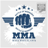 Fight club MMA Mixed martial arts. Fighting logo Stock Photos