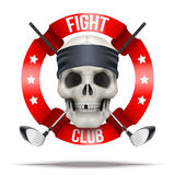 Fight club or team badges and labels logo Royalty Free Stock Photos