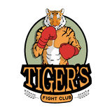 Fight Club Tigers logo. On white background Royalty Free Stock Photos
