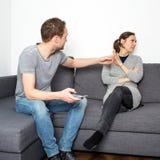 Fight between couple Stock Photo