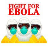Fight for Ebola. African health workers in Ebola-protective uniform Stock Image