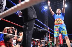 Fight for the European IBF championship Royalty Free Stock Photos