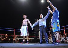 Fight for the European IBF championship Royalty Free Stock Photo