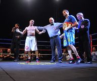 Fight for the European IBF championship Royalty Free Stock Images