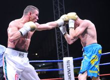 Fight for the European IBF championship Stock Images