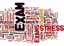 Fight The Exam Stress Text Background  Word Cloud Concept Stock Image