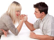 Fight, fight, fight Royalty Free Stock Photos
