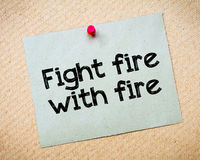Fight fire with fire Stock Photo
