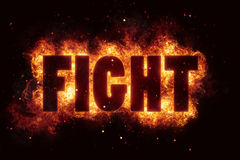 Fight fire text flame flames burn burning hot explosion. Explode Stock Photos