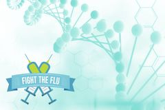 Fight the flu design Stock Images