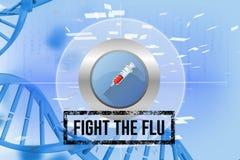 Fight the flu design. Digital composite of Fight the flu design Stock Photos