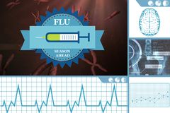 Fight the flu design. Digital composite of Fight the flu design Royalty Free Stock Photos