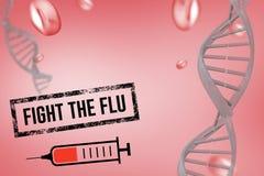 Fight the flu design. Digital composite of Fight the flu design Stock Images