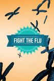 Fight the flu design Royalty Free Stock Image
